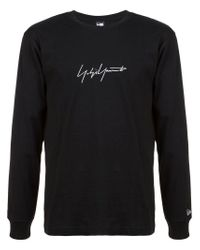 Yohji Yamamoto - Black Logo Sweatshirt for Men - Lyst