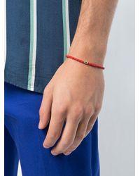 Luis Morais - Red Small Cross Of Loraine Barrel Bracelet - Lyst
