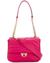 Ferragamo - Pink Matelassé Flap Bag - Lyst