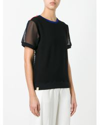 Monreal London | Black Mesh 'sweat' T-shirt | Lyst