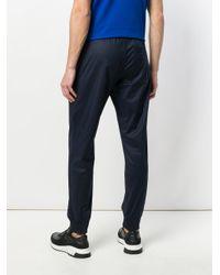 Emporio Armani - Blue Drawstring-waist Track Pants for Men - Lyst