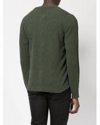 Roberto Collina - Green V-neck Cardigan for Men - Lyst