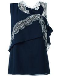 Carven | Blue Asymmetric Sleeveless Top | Lyst