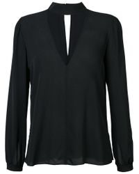 A.L.C. - Black V Neck Top - Lyst