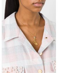 Alex Monroe - Metallic Large Peacock Feather Necklace - Lyst