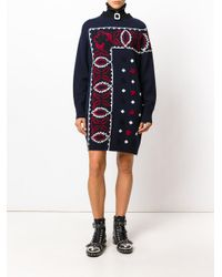 Sacai - Blue Embroidered Dress - Lyst