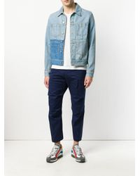 DSquared² - Blue Cropped Chino Trousers for Men - Lyst
