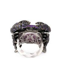 Stephen Webster - Metallic 'crab Crystal Haze' Ring - Lyst
