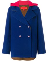 Tommy Hilfiger - Blue Double Face Peacoat - Lyst
