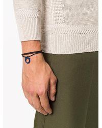 Ferragamo - Black Gancio Logo Plaque Rope Bracelet for Men - Lyst