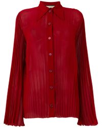 Gucci - Red Micro-pleated Shirt - Lyst