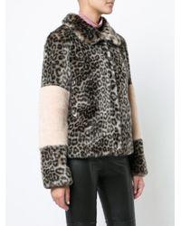Shrimps - Multicolor Leopard Print Coat - Lyst