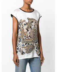 Twin Set - Black Embroidered T-shirt - Lyst
