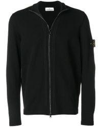 Stone Island - Black Zip-up Cardigan for Men - Lyst