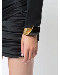 Oscar de la Renta - Metallic Folded Metal Bracelet - Lyst