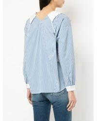 Sandy Liang - Blue Toto Striped Shirt - Lyst