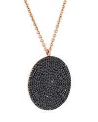Astley Clarke - Black Large 'icon' Diamond Pendant Necklace - Lyst