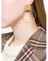 Isabel Marant - Metallic Orielle Hoop Earrings - Lyst