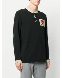 Kent & Curwen - Black Rose Patch Sweatshirt for Men - Lyst