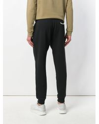 Kent & Curwen - Black Buttoned-waist Sweatpants for Men - Lyst