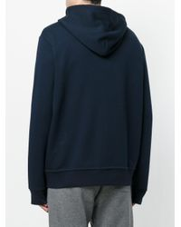 Polo Ralph Lauren - Blue Zipped Hooded Sweater for Men - Lyst