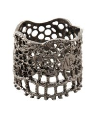 Aurelie Bidermann - Black 'vintage Lace' Ring - Lyst