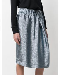 Stella McCartney - Blue Metallic Midi Skirt - Lyst