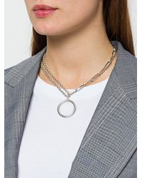 Isabel Marant - Metallic Double Link Chain Necklace - Lyst