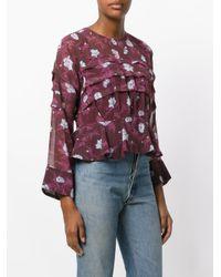 Carven - Purple Floral Print Blouse - Lyst