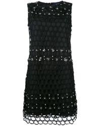 Class Roberto Cavalli - Black Net Detail Dress - Lyst