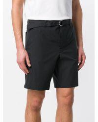 Prada - Black Belted Bermuda Shorts for Men - Lyst