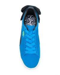 PUMA - Blue Bow Detail Sneakers - Lyst