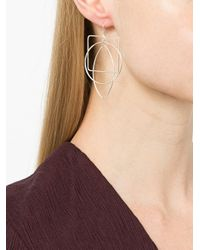 Petite Grand - Metallic Abstraction Earrings - Lyst