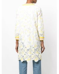 Ermanno Scervino - White Floral Lace Coat - Lyst