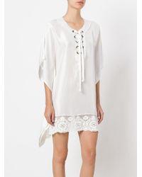 Faith Connexion - White Shirt Dress - Lyst