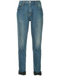 Tu Es Mon Tresor - Blue Ankle Ribbon Jeans - Lyst