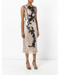 Antonio Marras - Multicolor Metallic Lace Dress - Lyst