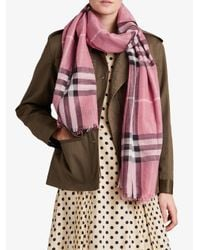 Burberry - Multicolor Metallic Check Scarf - Lyst
