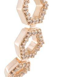 Astley Clarke - Metallic Triple Honeycomb Stud Earrings - Lyst