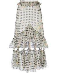 Christopher Kane - White Gingham Chain Skirt - Lyst