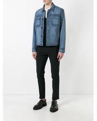 Prada - Blue - Boxy Leather Jacket - Men - Calf Leather/viscose - 48 for Men - Lyst