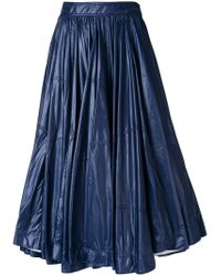 CALVIN KLEIN 205W39NYC - Blue Full Gathered Skirt - Lyst