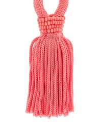 Oscar de la Renta - Pink Tassel Drop Earrings - Lyst