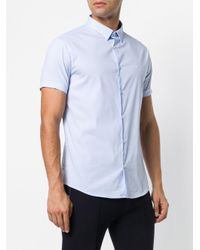 Emporio Armani - Blue Short Sleeve Shirt for Men - Lyst