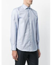 Canali - Black Striped Shirt for Men - Lyst