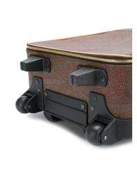 Etro - Brown Paisley Print Suitcase for Men - Lyst