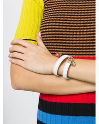 Versus  - Black Lion Head Wrap Bracelet - Lyst