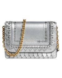 Burberry - Metallic Brogue Detail Chain Wallet - Lyst