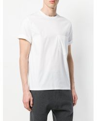 Neil Barrett - White Rolled Sleeve T-shirt for Men - Lyst