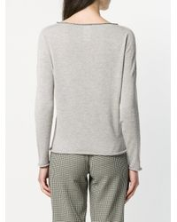 Fabiana Filippi - Gray V-neck Sweater - Lyst